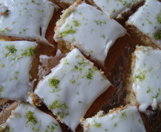 Iced Lime Tray Bake with Baking Mad