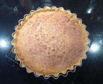 Auntie Flo's simple, delicious coconut pie with damson jam