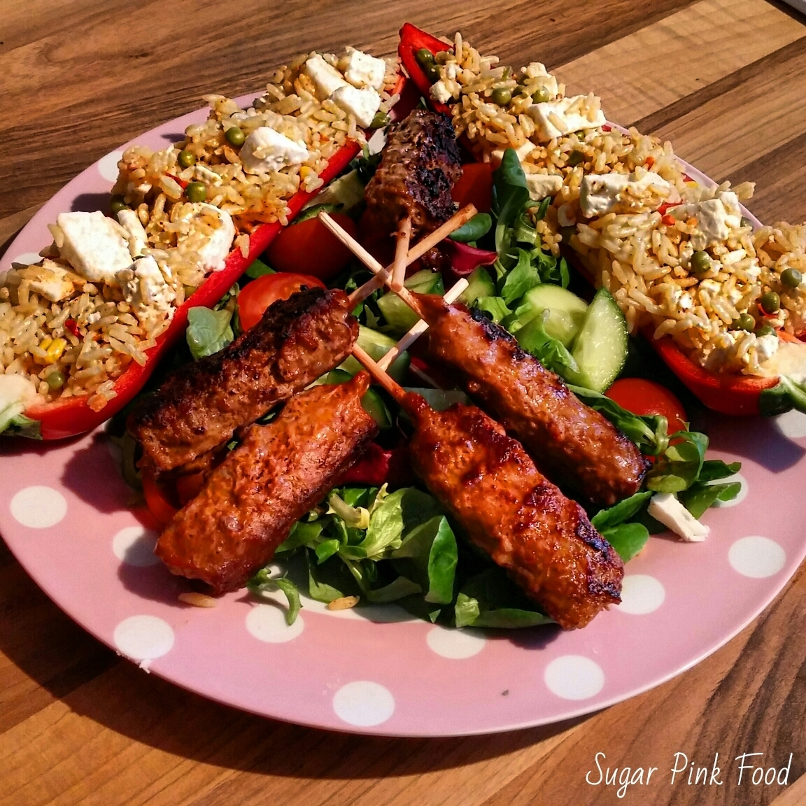 Slimming World Friendly Recipe: Beef Kebabs & Giant Stuffed Sweet Chillies