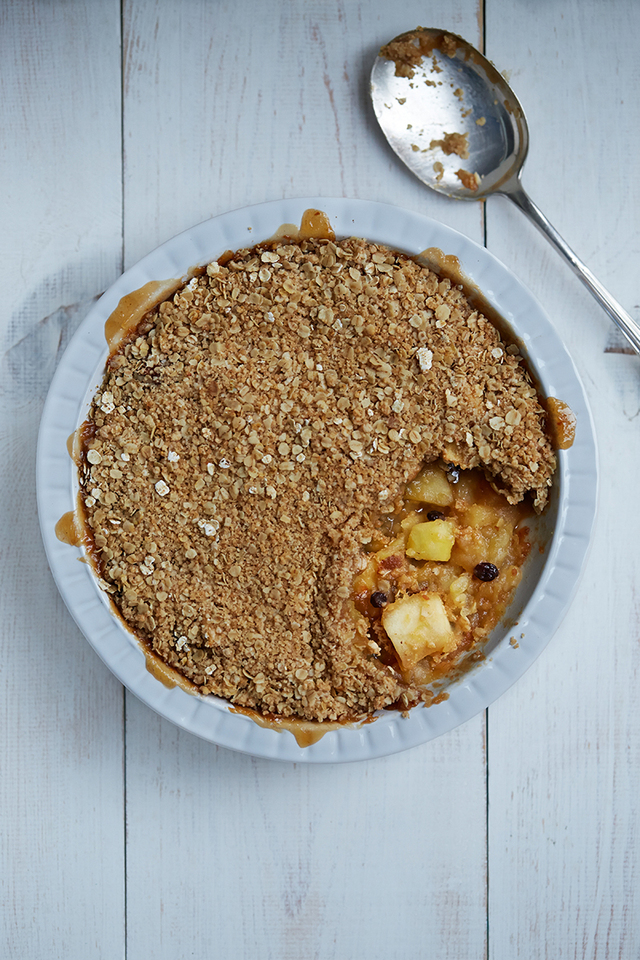 Apple & Mincemeat Crumble