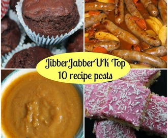 JibberJabberUK Top 10 recipe posts