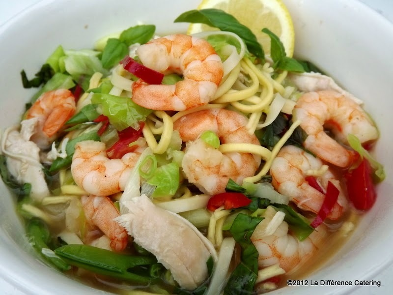 Thai Style Prawn & Chicken Noodle Soup
