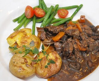 Boeuf Bourguignon i Crock pot
