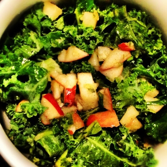 Kale and Apple Salad with Lemon Ginger Dressing