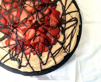 The Best (Vegan, Gluten Sugar and Soy Free) Chocolate Cake Ever... With Vanilla Buttercream Frosting, Strawberries and a Chocolate Ganache Drizzle