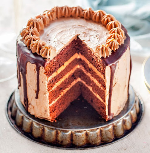 Chocolate cake with salted caramel buttercream - and a blog birthday