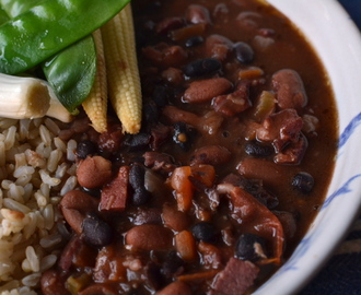 Pork and bean stew (aka the most inauthentic feijoada ever)