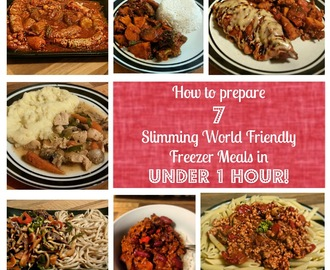 How to prepare 7 Slimming World friendly freezer meals in under 1 hour!