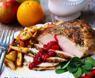 Herb Roasted Turkey Breast with Cranberry Pear Chutney