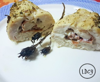 PECHUGAS DE POLLO RELLENAS DE QUESO Y JAMÓN/Chicken breasts stuffed with cheese and ham