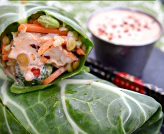 More Fun Time! 15-Minute Chicken, Lentil & Veggie Green Wraps