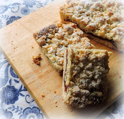 Cherry Crumble Tray Bake