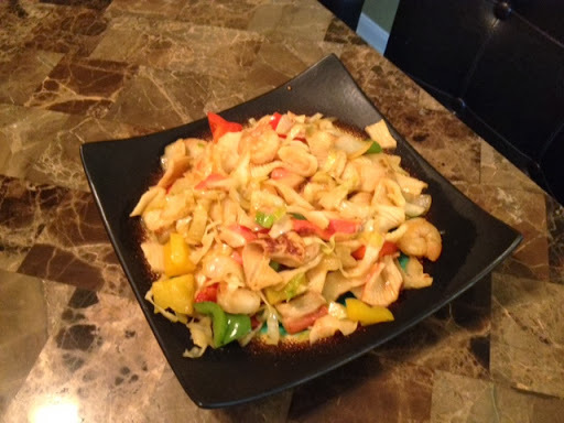 Crab & Shrimp Stir-Fry w/Cabbage, Onions & Peppers