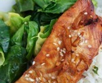 Miso & Ginger Glazed Salmon with Coconut Rice