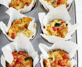 Crustless Mini Vegetable Quiches