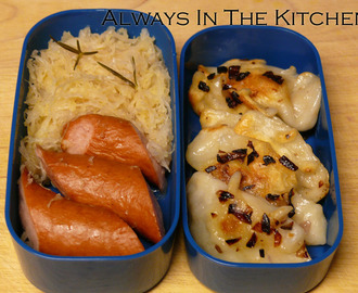 International Bento (Germany/Ukraine): Sausage & Sauerkraut