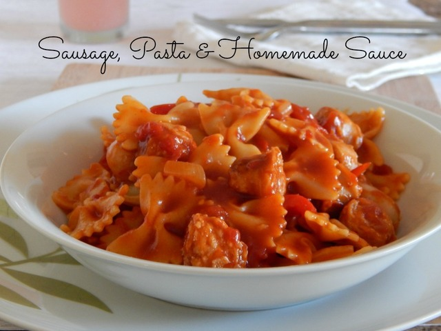 Sausage Pasta Recipe with Easy Homemade Sauce!
