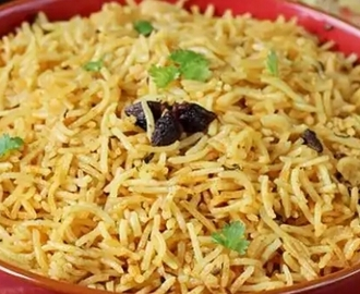 Kuska rice or plain biryani without veggies
