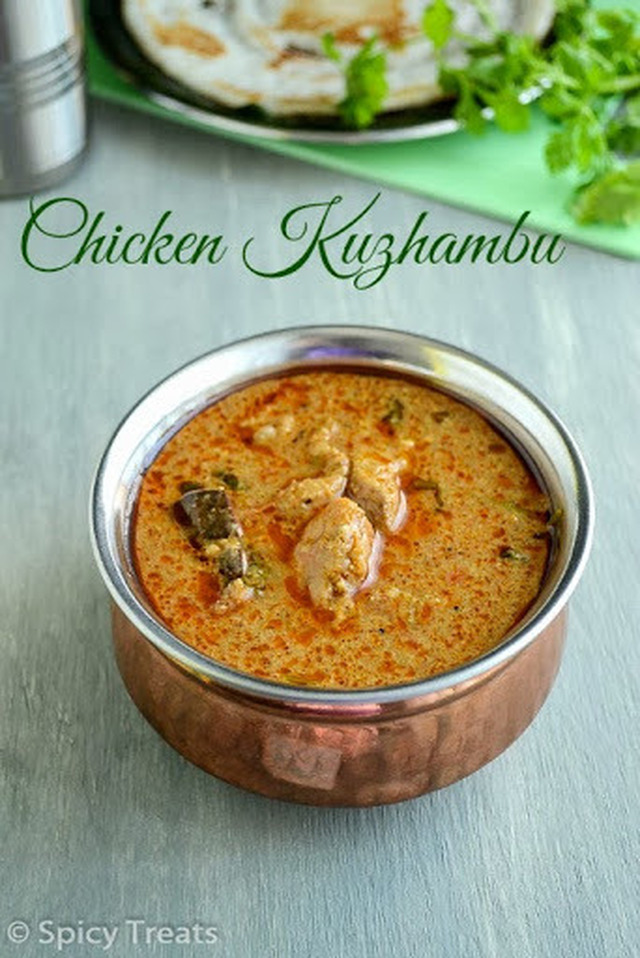 Chicken Kuzhambu / Tamil Nadu Hotel Style Chicken Kuzhambu / Spicy Chicken Curry Recipe