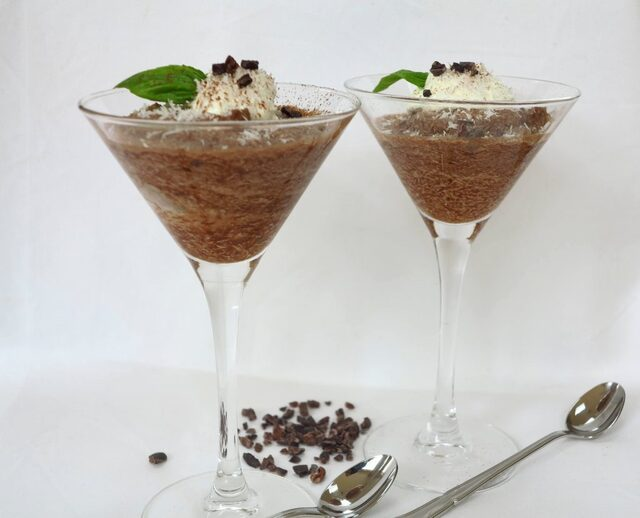 Koolhydraatarme chocolade Bounty mousse