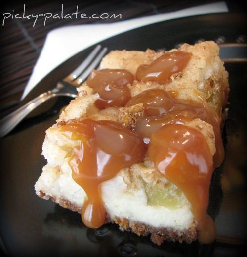 Caramel Apple Cream Cheese Cookie Bars!