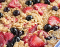 Very Berry Oatmeal Bake, Delicious With Brown Sugar, Vanilla & Cinnamon!