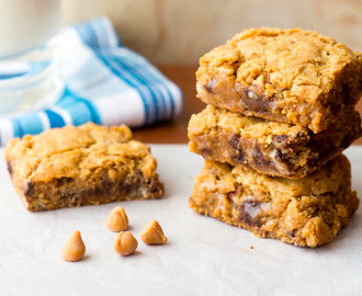 Butterscotch and Toffee Gooey Brownie Bars