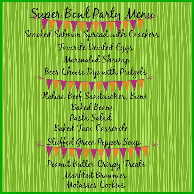 Super Bowl Party Tips and Menu