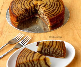 Chocolate Banana Zebra Cake