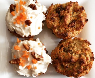Carrot Oat Cupcakes