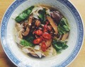 'Big Fat Noodle' and Shiitake Mushroom Broth