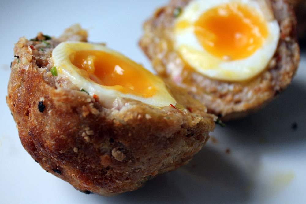 Gluten free baked scotch egg recipe