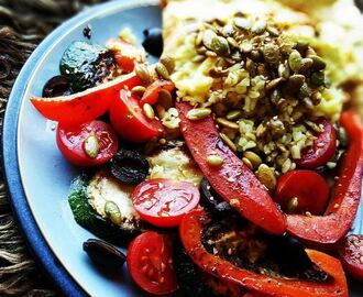 VEGAN VIBES:Grilled veggies & bulgur