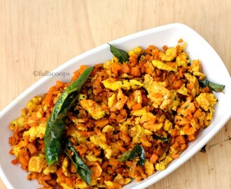 Carrot Egg Poriyal