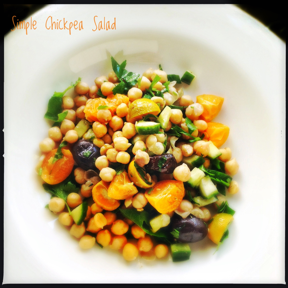 Another Very Simple Chickpea Salad with Olives