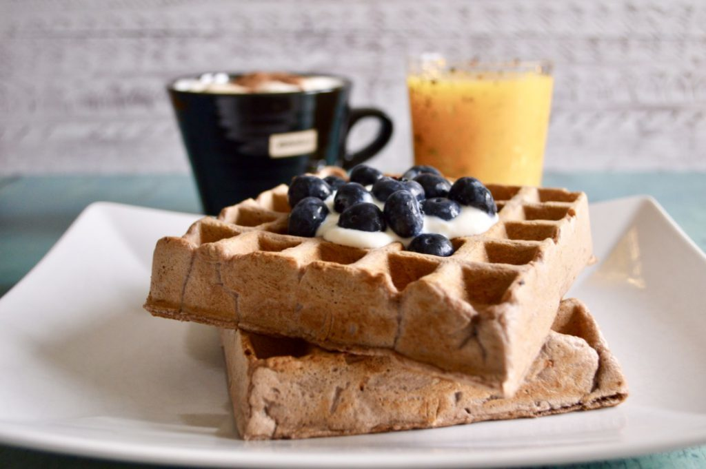 Gluten and Dairy Free Gingerbread Waffles