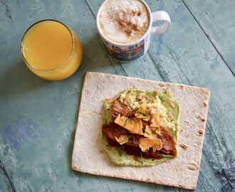Gluten and Dairy Free Bacon, Avocado and Salsa Wrap