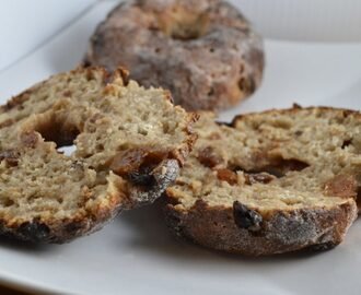 Gluten and Dairy Free Raisin and Cinnamon Bagels