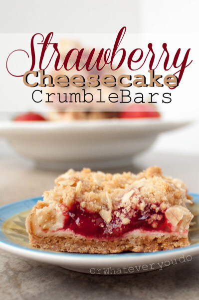 Strawberry Cheesecake Crumble Bars