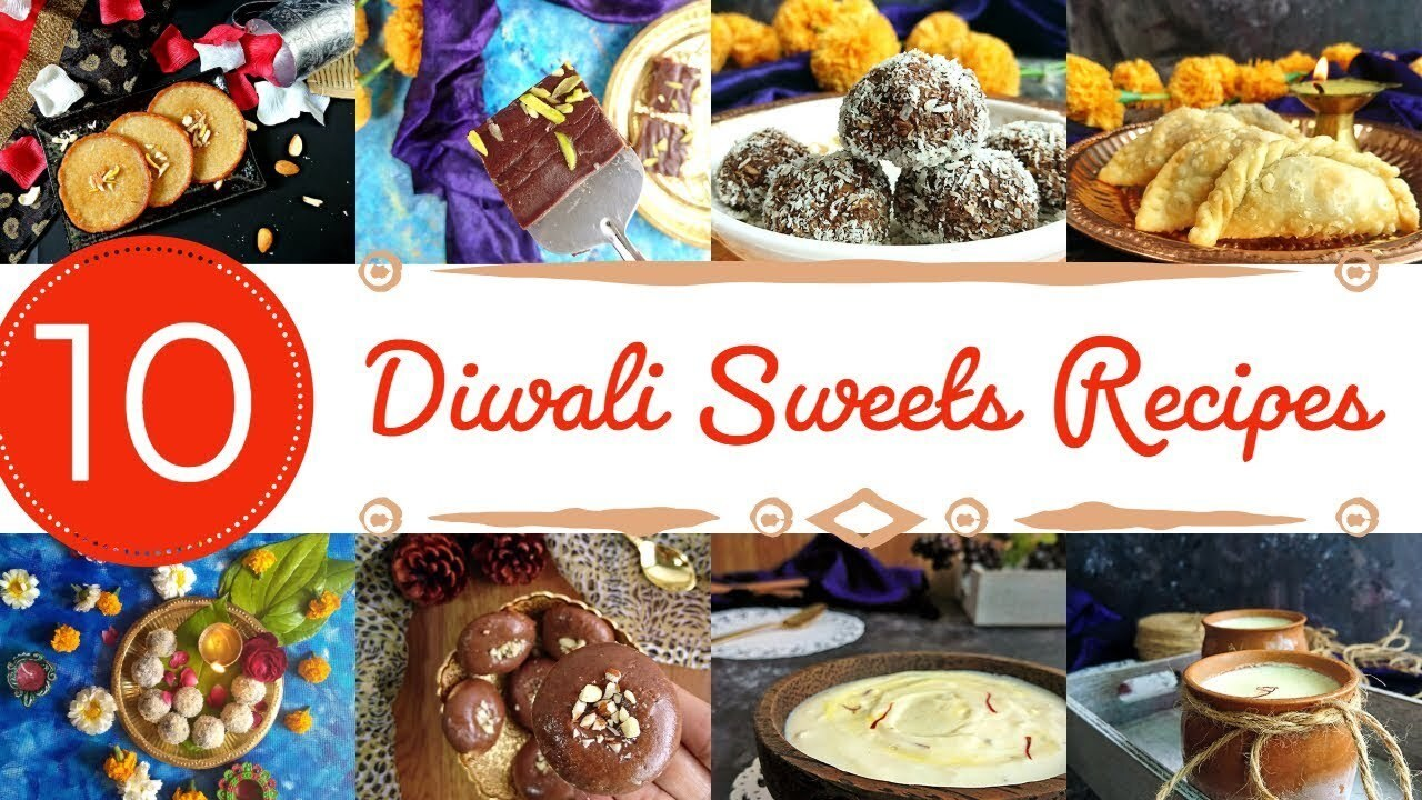 10 Easy Diwali Sweets Recipes | quick and easy to make sweet recipes | diwali recipes