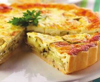 Quiche light com recheio de abóbora