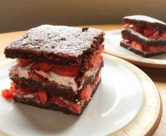 Chocolate, Coconut and Strawberry Cake