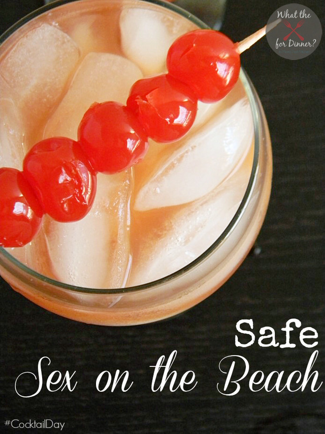 Safe Sex on the Beach Mocktail #CocktailDay