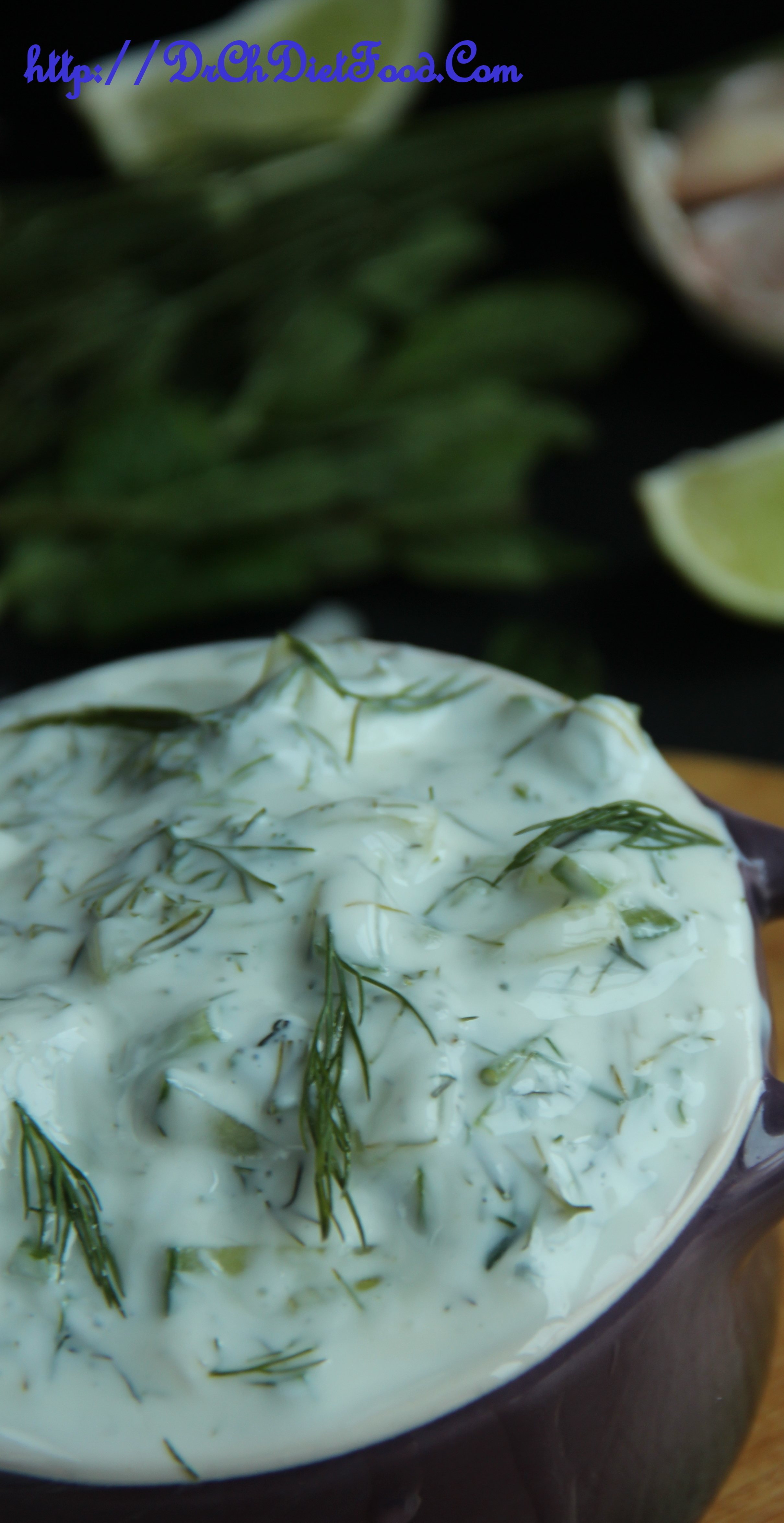Tzatziki dip: Dill, Mint and Cucumber yogurt dip