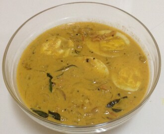 EGG CURRY IN COCONUT MILK