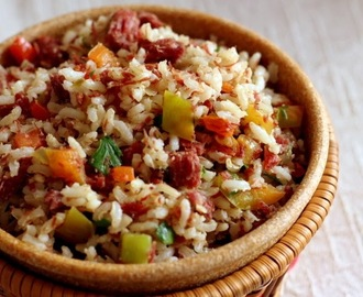 Arroz integral de carreteiro
