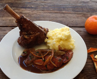 Slow Cooked Lamb Shanks with Seville Orange and Marmalade