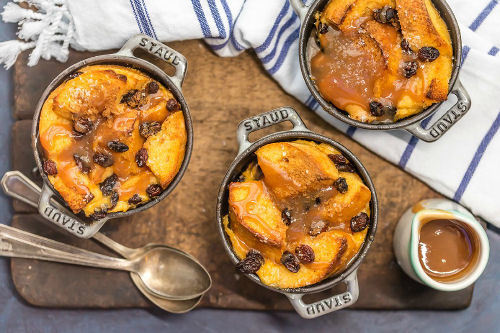 Ierse Broodpudding met Whiskey Caramelsaus