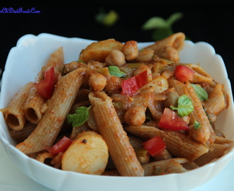Chole Aloo (Chickpeas and Potato) Pasta – Indo-Italian