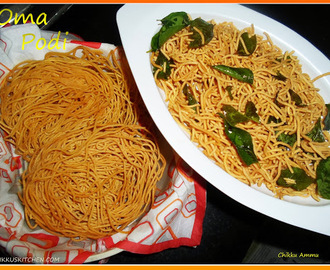 Oma Podi Recipe / Diwali Snacks /Sev Recipe